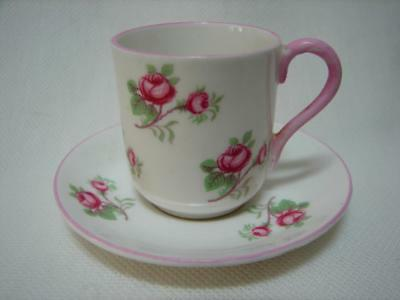 Vintage MINIATURE Shelley rosebud cup and saucer