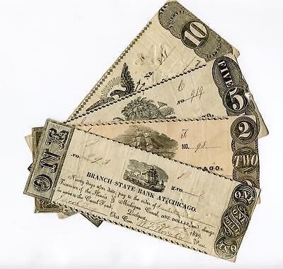 1839 Chicago $10, 5, 2, & 1   Branch State Bank at Chicago   CC   NR (MG1225)