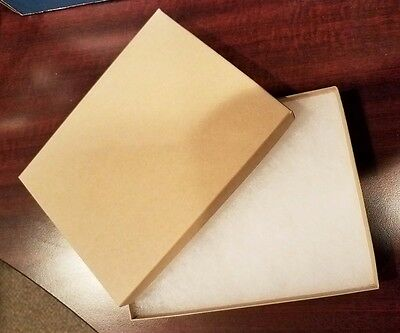 NEW! Kraft Brown Jewelry/Gift Boxes with cotton insert 5x7 - 35 ct.