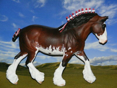 LSQ OOAK Custom Breyer Model Horse Shannondell Draft Clydsdale x Williams *WOW*