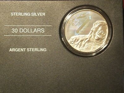 2006 Canada $30 Sterling Silver Proof Space Coin Weighs 31.50 Grams (E20)