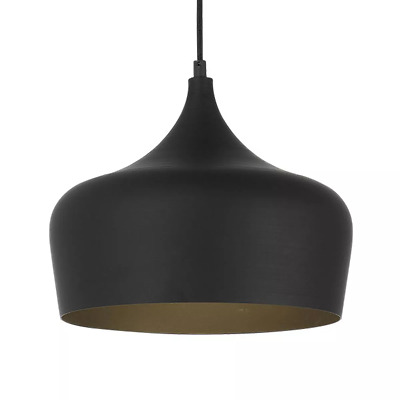 NEW Telbix Polk Metal & Oak Medium Pendant Light - Polk PE30