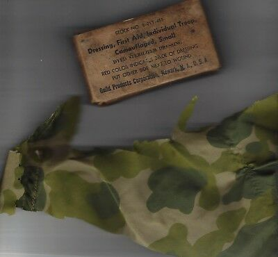 WW 2 Dressing,First Aid &  Double box,complete, #2-017-455 camouflaged, small