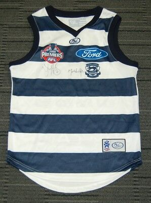 Geelong Cats 2009 Premiers Captain Coach Harley Thompson Hand Signed Jumper Coa