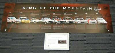 Peter Brock V8 Supercars Signed King Of The Mountain Bathurst Panoramic Print