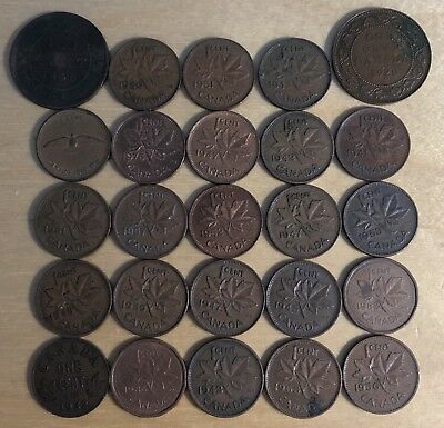 Vintage Canada Cents, lot of 50 (Lot 94)