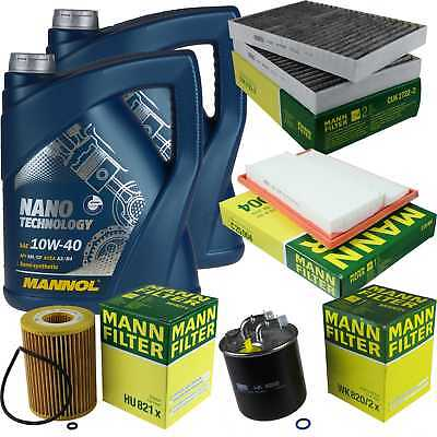 Packet Inspection 10 L Mannol Nano Technology 10W-40 + Man Filter Package