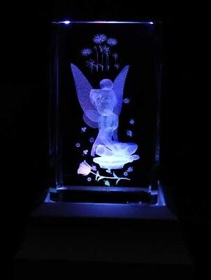 Little Garden Tinkerbell Laser Crystal LED Night Light Gift FRY01