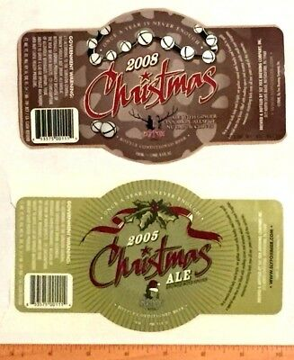 (4) MICRO CRAFT BEER LABELS Lot sticker 22 oz Sly Fox Pa Christmas rare
