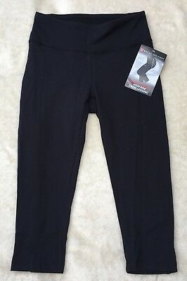BALLY Fitness Tummy Control High Rise Capri Legging Black Size Small BNWT