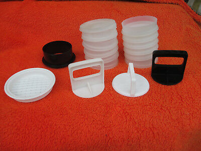 Tupperware Hamburger Press Mould And Containers