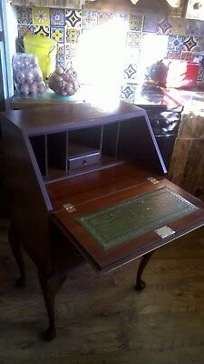 Beautiful Writing Bureau / Desk with Key. Immediate use or Shabby Chic project.