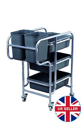 Service Cart / Trolley + Two Bins