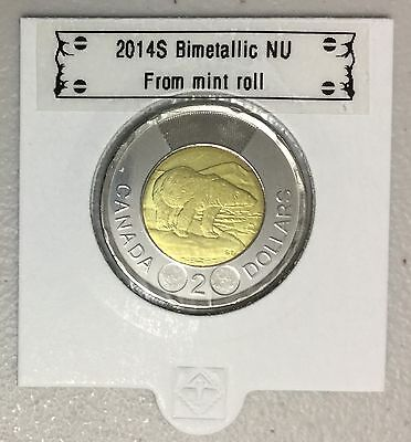 CANADA 2014 New 2 dollar TOONIES (BU directly from mint roll)