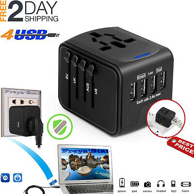 Travel Adapter Universal International Power European Outlet Plug EU to US to EU