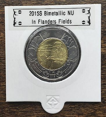 CANADA 2015 New 2 dollar TOONIES In Flanders Fields (BU directly from mint roll)