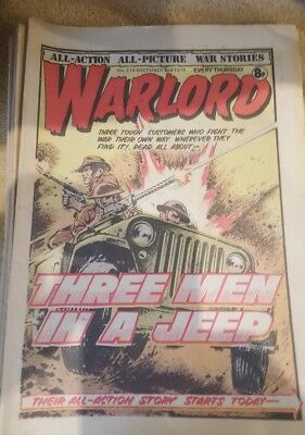 vintage warlord comics X 26  issues in 200 range.