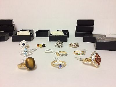 Job Lot wholesale 10 Ladies Rings all SIZE P Total Rrp £150.00 ++ Gift Set Boxed