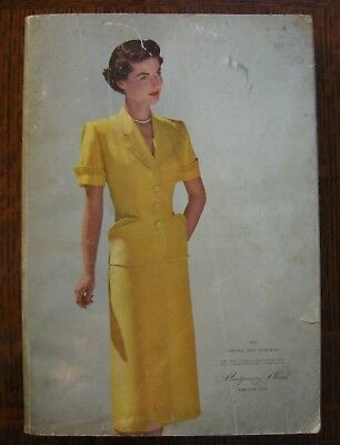 1951 MONTGOMERY WARD Spring Summer Catalog Vintage 1950s Fashion Home Decor
