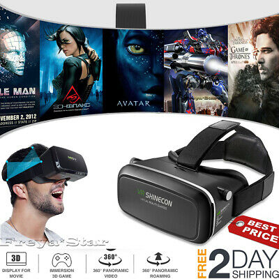 3D VR Headset Glasses Virtual Reality For 4.7- 6.0 Iphone 7 Plus + Controller