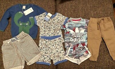 Baby Clothes Bundle Size 0-1. 7 Items. New & BNWT. Adidas. Seed. Young Hearts.