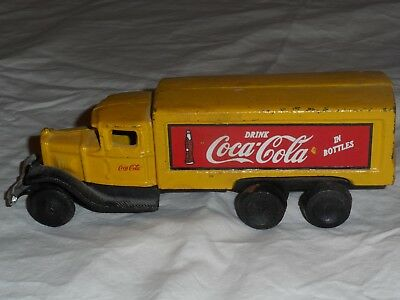 Vintage Cast Iron Coca Cola Delivery Truck