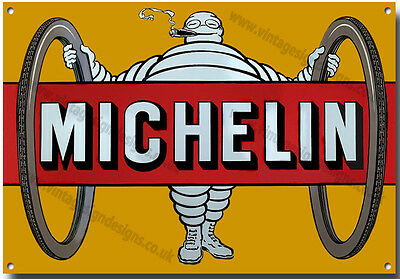 Michelin Tyres Metal Sign , Retro, Garage, Reifen, British Reifen Vintage