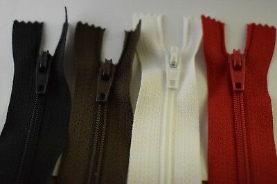 Closed end nylon zip ideal for dresses,skirts,bags,cushions 8,10,12 inch zips
