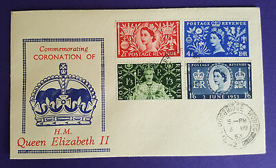 First Day Cover Commemorating Coronation of H.M. Queen Elizabeth II 1953