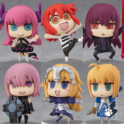 Fate grand order fgo 6pcs set pvc figure toy anime collection doll 3D model