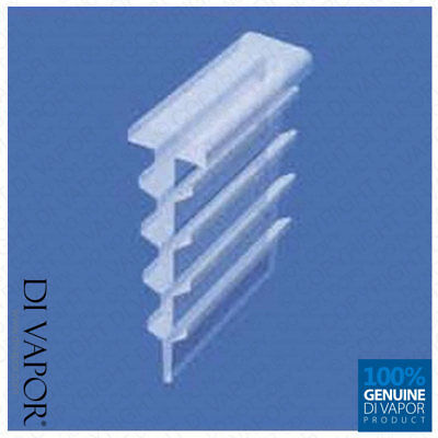 Di Vapor (R) Channel Seal for Bi Folding Shower Door Shower cubicle seal Push on