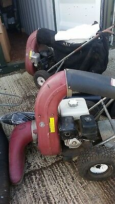 Leaf and litter vacuum parker 35 x two with wander hose and spare bags and tubes