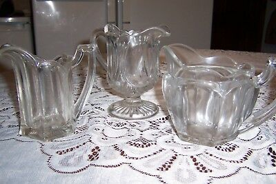 3 x pretty decorative glass jugs, excellent condition;not used just displayed