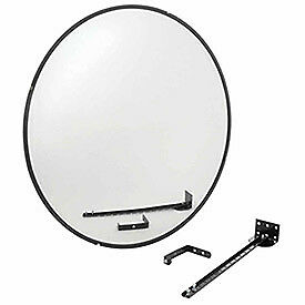 "Wide Angle Convex Safety Glass Mirror, 36"" Diameter, Indoor, Lot of 1"