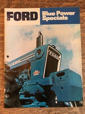 Vintage Ford Farm Tractors Blue Power Specials Brochure Dealer Advertising