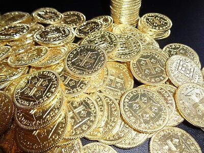 40 Authentic Shiny Pirate and Buccaneer Gold Coins