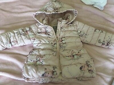 Baby Girls NEXT Pink fairy coat Age 9-12 Months Hooded
