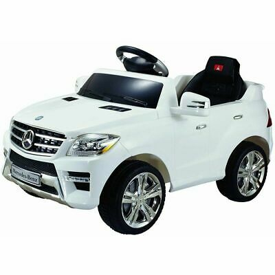 White Mercedes Benz ML350 6V Electric Kids Ride On Car Licensed MP3 RC Remote Co