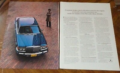 1978 Mercedes Benz 450 Sel About Handling Ad - Retro 70S Luxury Car Auto German