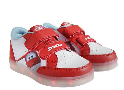 online store 1cd63 c3f6f DISNEY KINDER TURNSCHUH Super Wings LED Blinkeschuh -Sneaker m. Licht rot  23-30