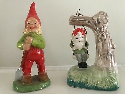 Lot of 2 True Vintage Irish Leprechauns St Patrick's Day