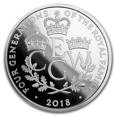 SKU#162453 2018 Great Britain 5 oz Proof Silver Four Generations
