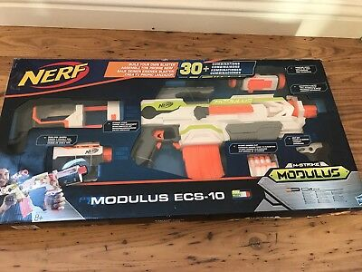 Nerf N Strike Modulus Ecs-10 Blaster Upgradable Toy Dart Gun