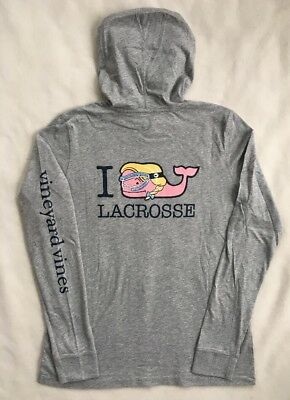 VINEYARD VINES Womens I Whale Lacrosse Hoodie LS Shirt NWT SMALL MEDIUM LARGE XL