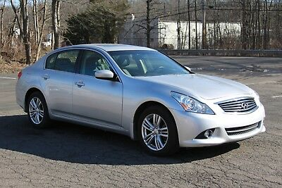 2013 Infiniti G37 Premium Package 2013 Infiniti G37x Premium Package 4 Door Sedan Silver Low Mileage