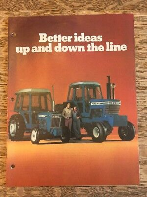 "Vintage Ford Tractors Brochure ""Better Ideas Up and Down the Line"" 1970s"