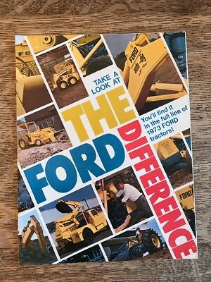 """Vintage Ford Industrial Tractors """"The Ford Difference"""" Backhoe Loader 1973"""