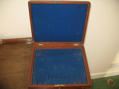 Lovely Old Vintage Wood Ex Cutlery Box With Vacant Cartouche