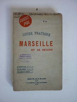 Marseille. Plan Guide De 1907