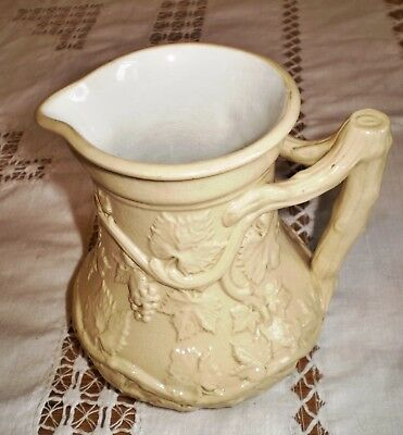 Minton C 1846 Stoneware Jug With Grape & Vine Leaf Pattern